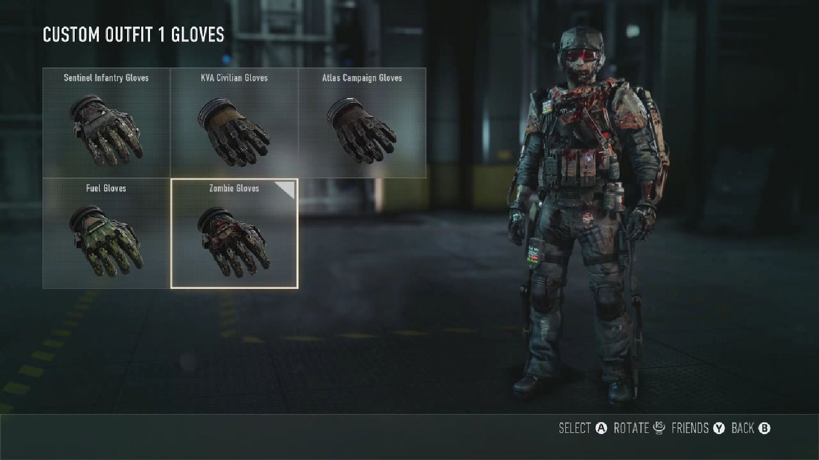 Call of Duty: Advanced Warfare Zombie Gloves