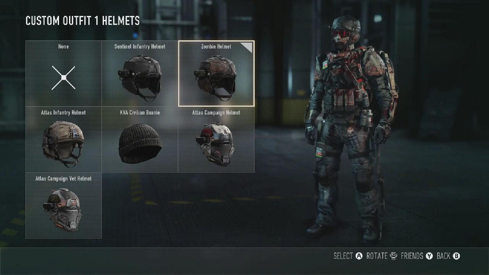 Call Of Duty Advanced Warfare Zombie Helmet