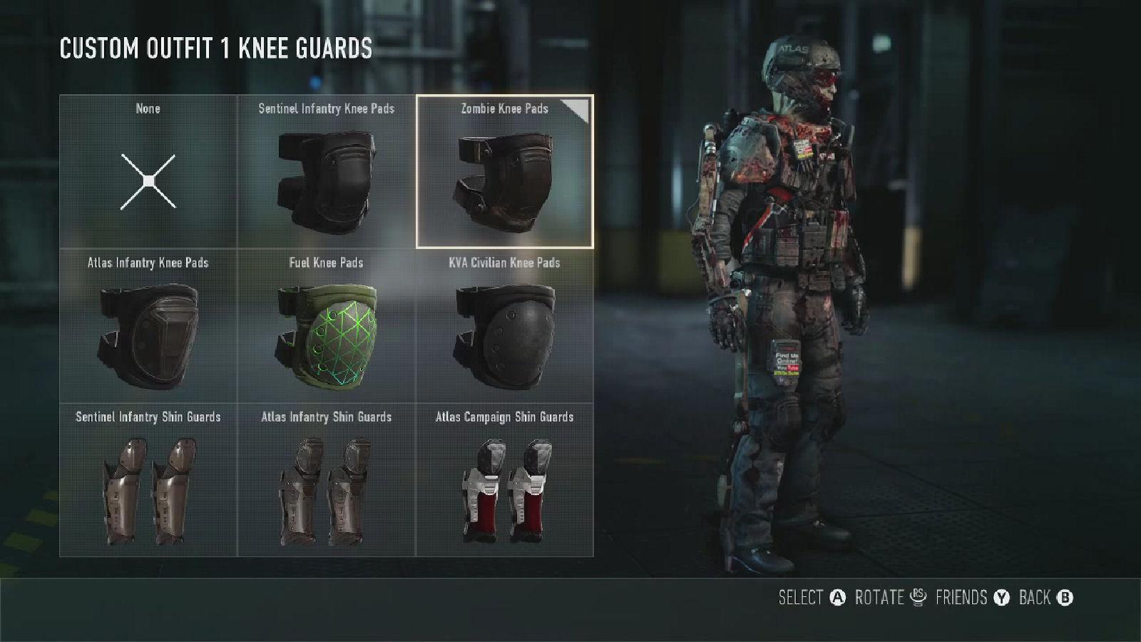 Call of Duty: Advanced Warfare Zombie Knee Pads