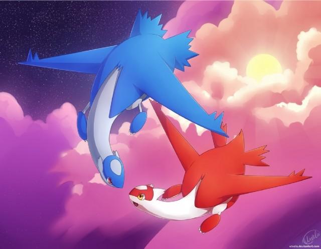 Latias Latios Skyborn Lovers Fanart Pokemon by Uixela DeviantArt