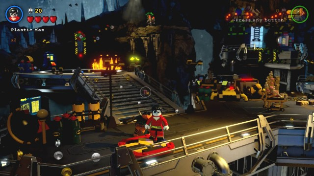Lego Batman 3 Red Brick 2: Studs x4 Location