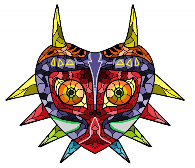 Majora's Mask Stained Glass Fanart ThatNintendoGamer364 DeviantArt
