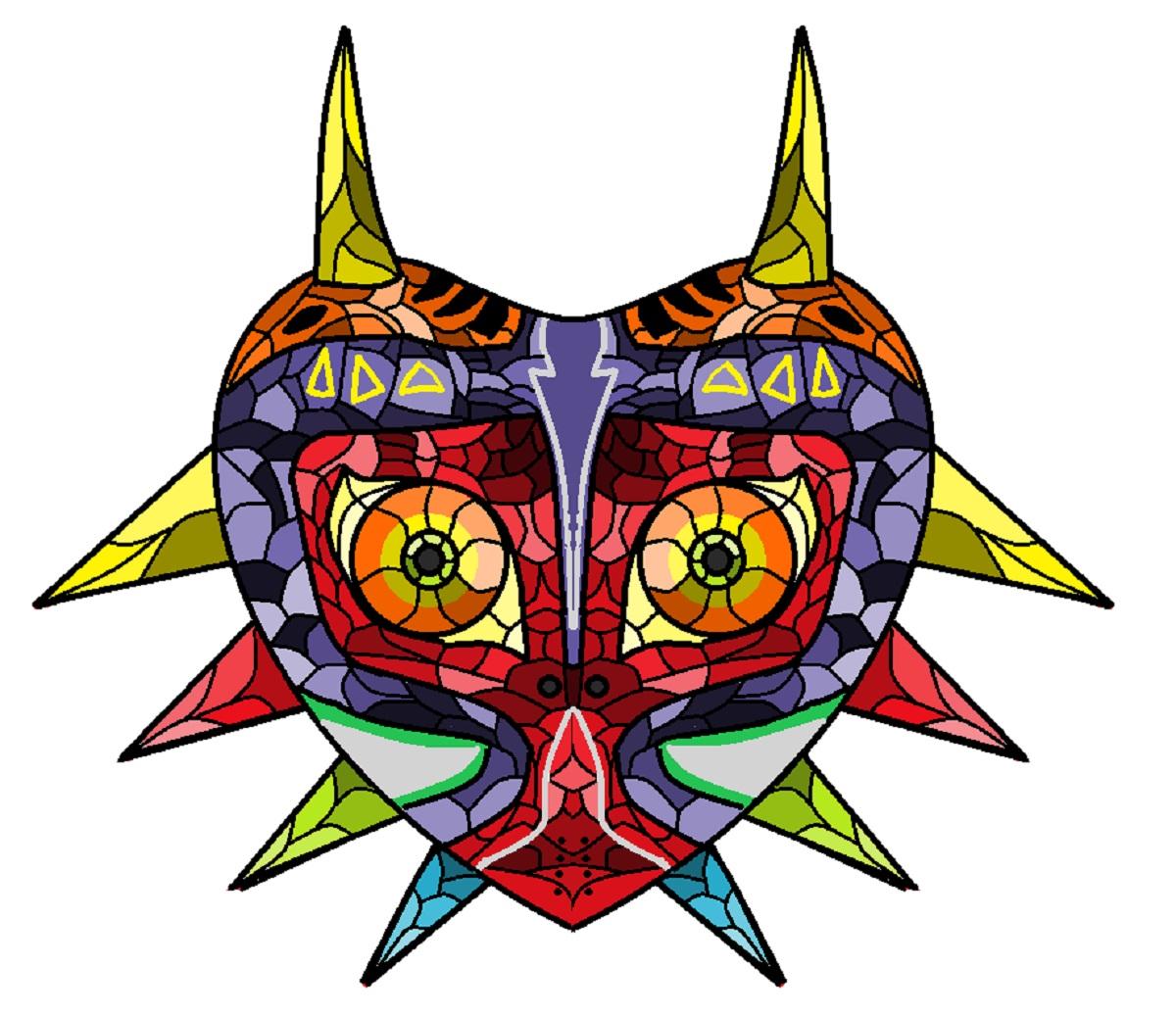 Majora's Mask Stained Glass Fanart ThatNintendoGamer364 DeviantArt