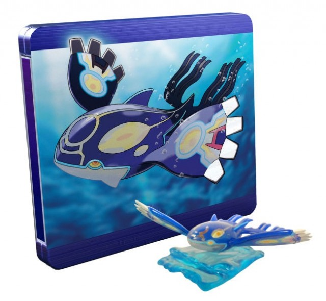 Pokemon Alpha Sapphire Limited Edition Steelbook Kyogre Figure UK 3DS