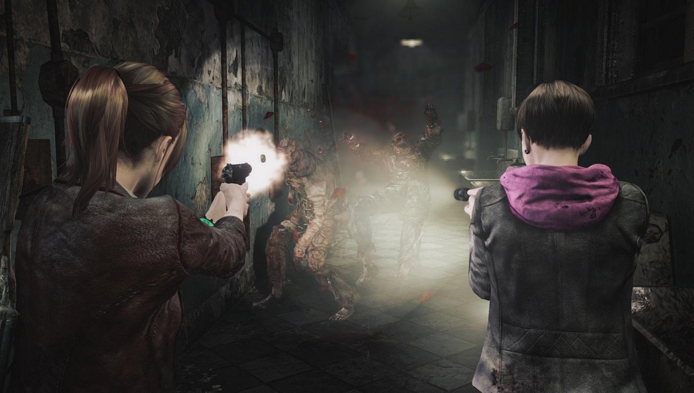 Resident Evil Revelations 2 Claire Moira Coop Teamwork Gameplay Screenshot