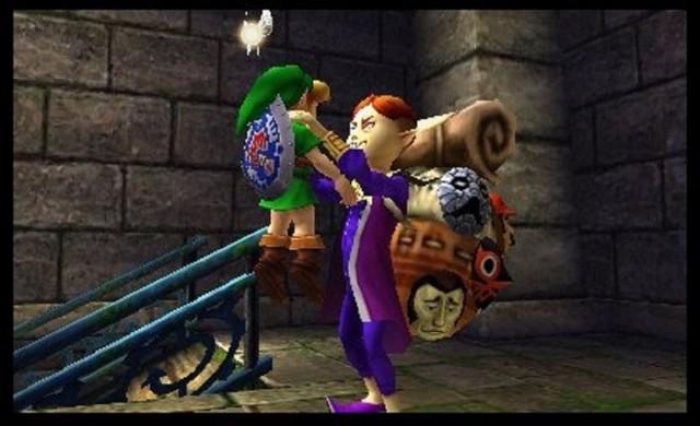 Zelda Majora's Mask 3D Happy Mask Salesman Gameplay Screenshot 3DS