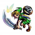 Zelda Majora's Mask 3D Link Mirror Shield Artwork 3DS Official