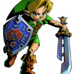 Zelda Majora's Mask 3D Link Razord Sword Artwork 3DS Official