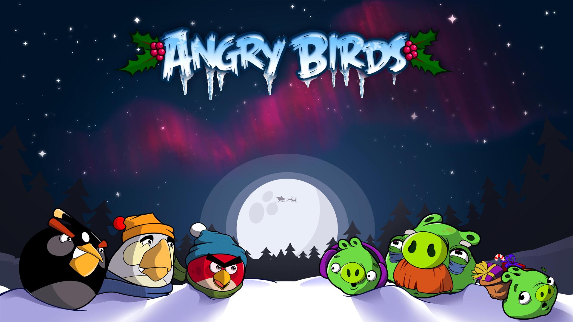 Angry Birds Christmas Wallpaper