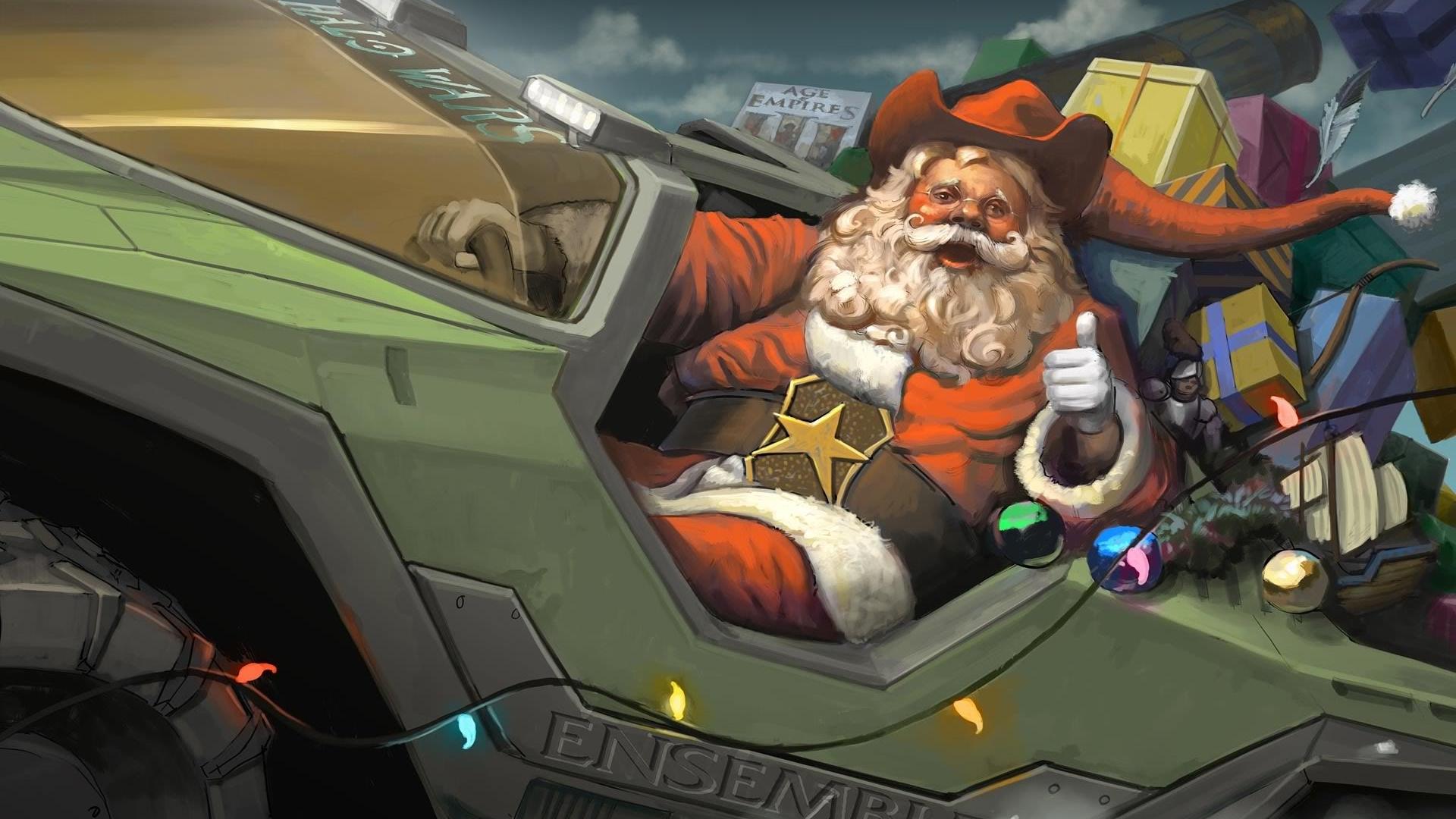 Halo Christmas Wallpaper