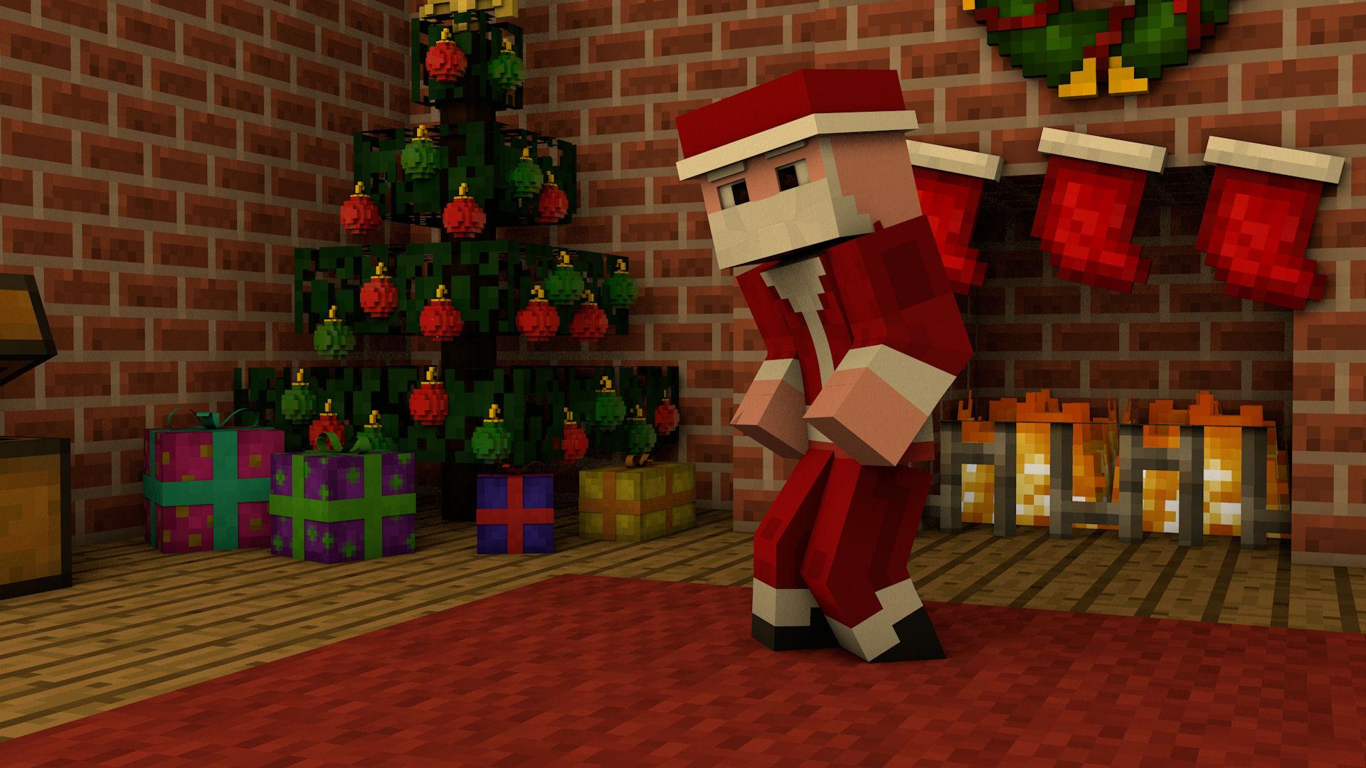 Minecraft Christmas Wallpaper
