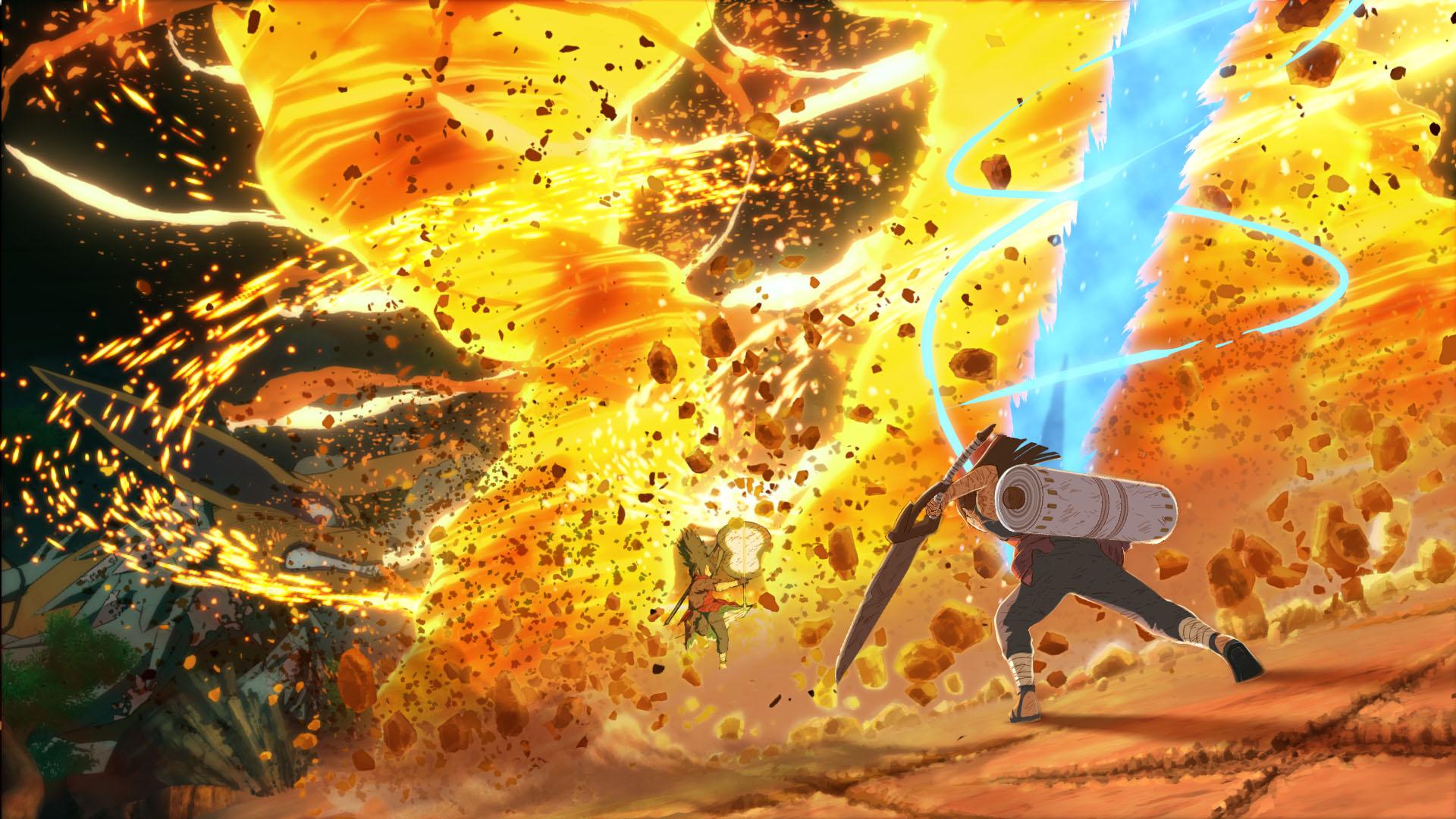 Naruto Shippuden: Ultimate Ninja Storm 4 fire fight screenshot