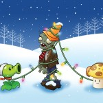 Plants VS Zombies Christmas Wallpaper
