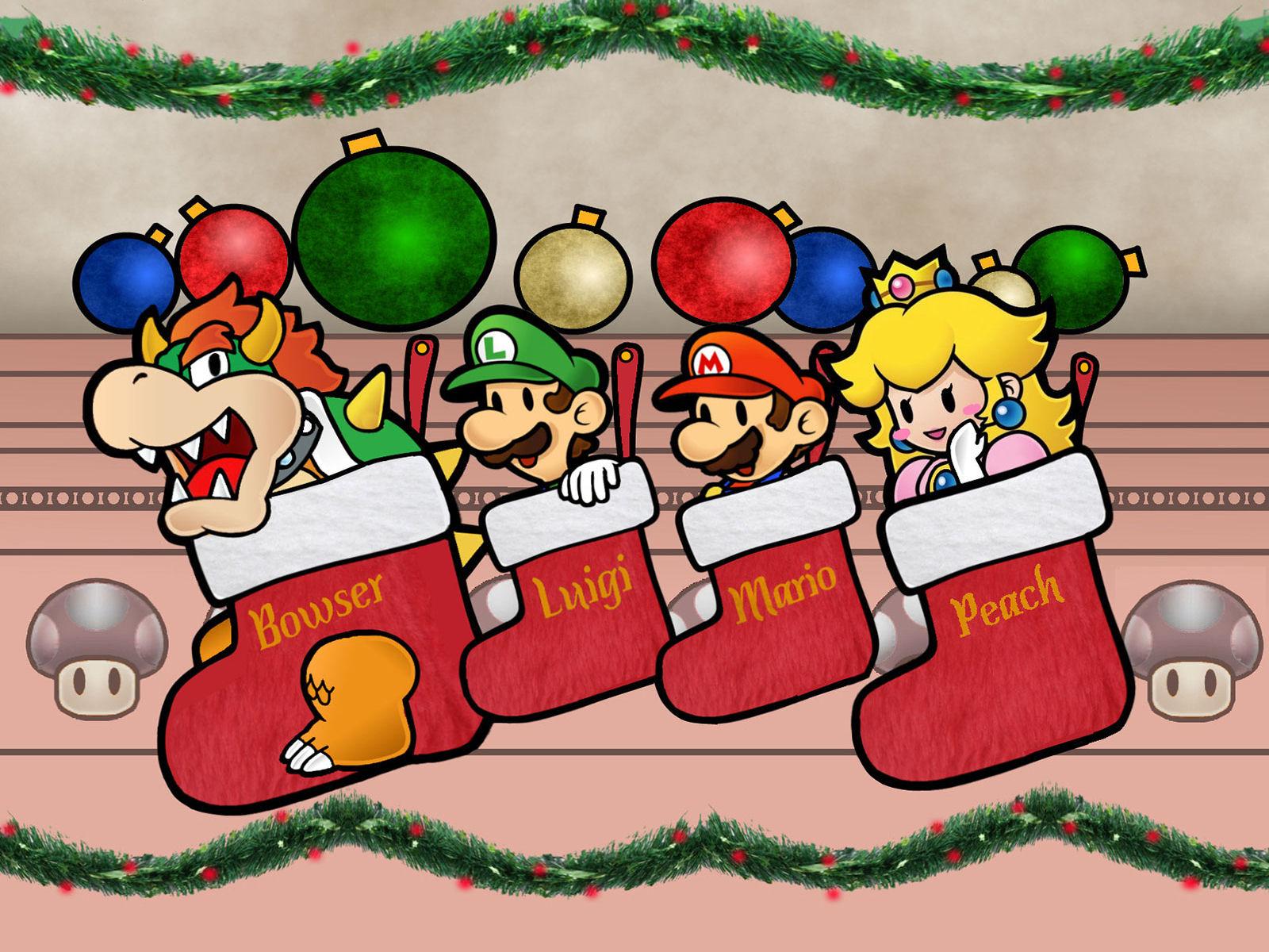 Super Mario Christmas Wallpaper