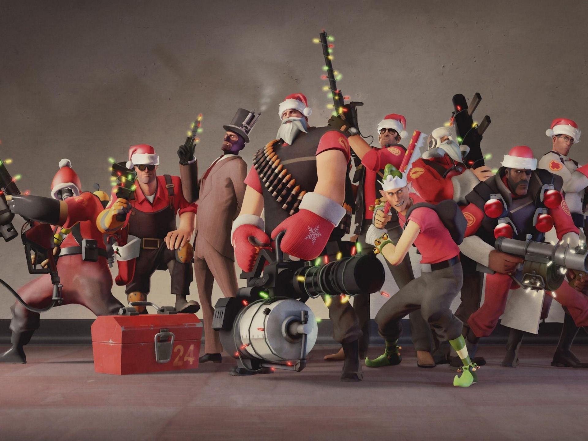 Team Fortress Christmas Wallpaper
