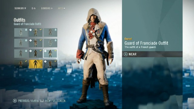 Assassin's Creed Unity: Dead Kings Guard of Franciade Outfit