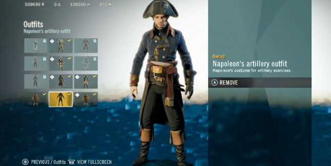 Assassin's Creed Unity: Dead Kings Napoleon's Artillery Outfit