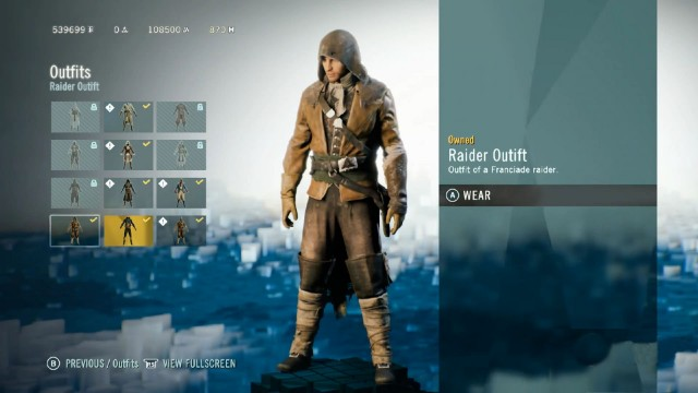 Assassin's Creed Unity: Dead Kings Raider Outfit