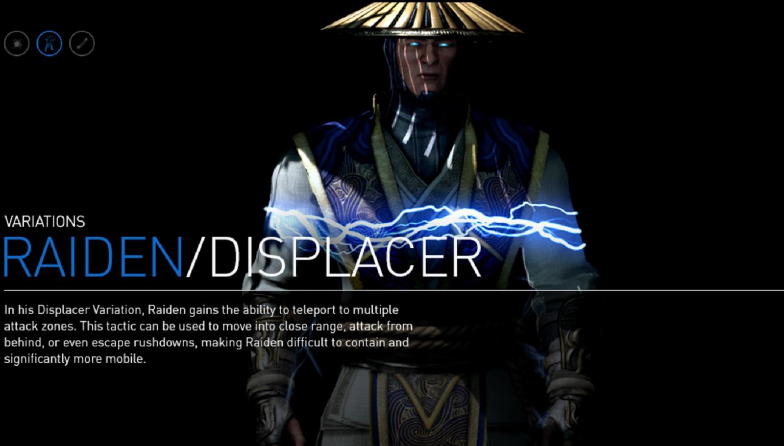 Mortal Kombat X Raiden Displacer Variation Character Artwork