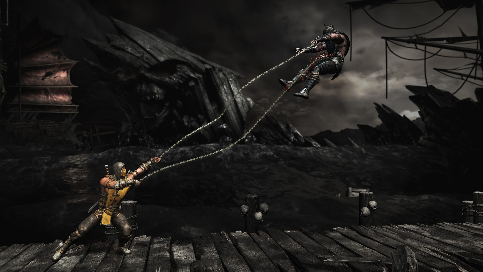 Mortal Kombat X Scorpion Spear Swing Gameplay Screenshot