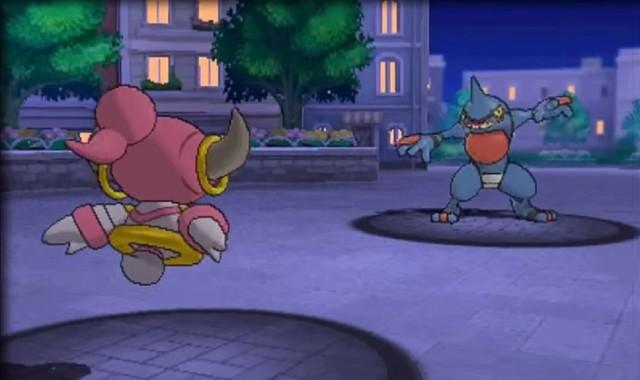 Pokemon Back of Hoopa In Battle Omega Ruby Alpha Sapphire Gameplay Screenshot Battle