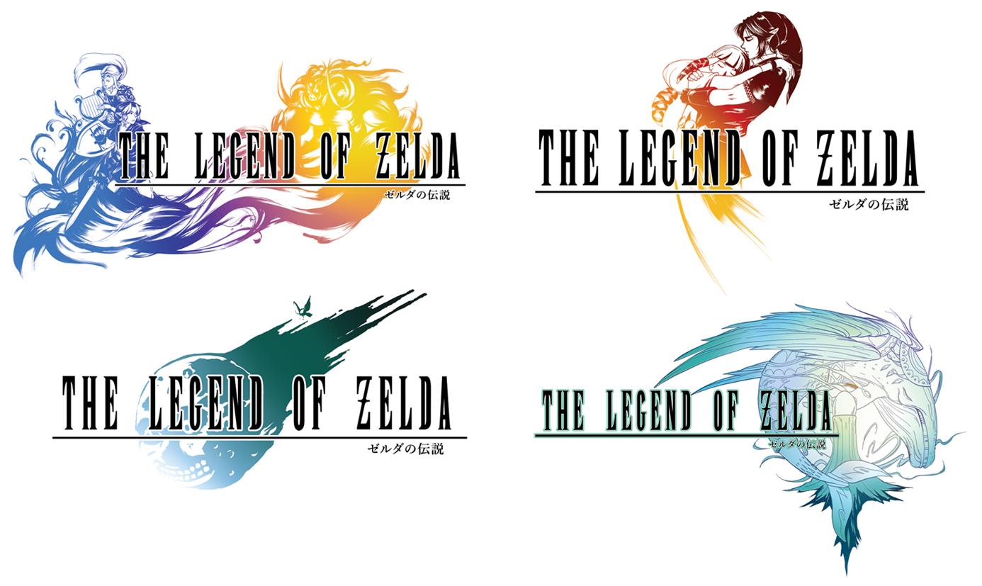 Zelda vs Final Fantasy Logo Crossovers ShatteredEarth Artist DeviantArt