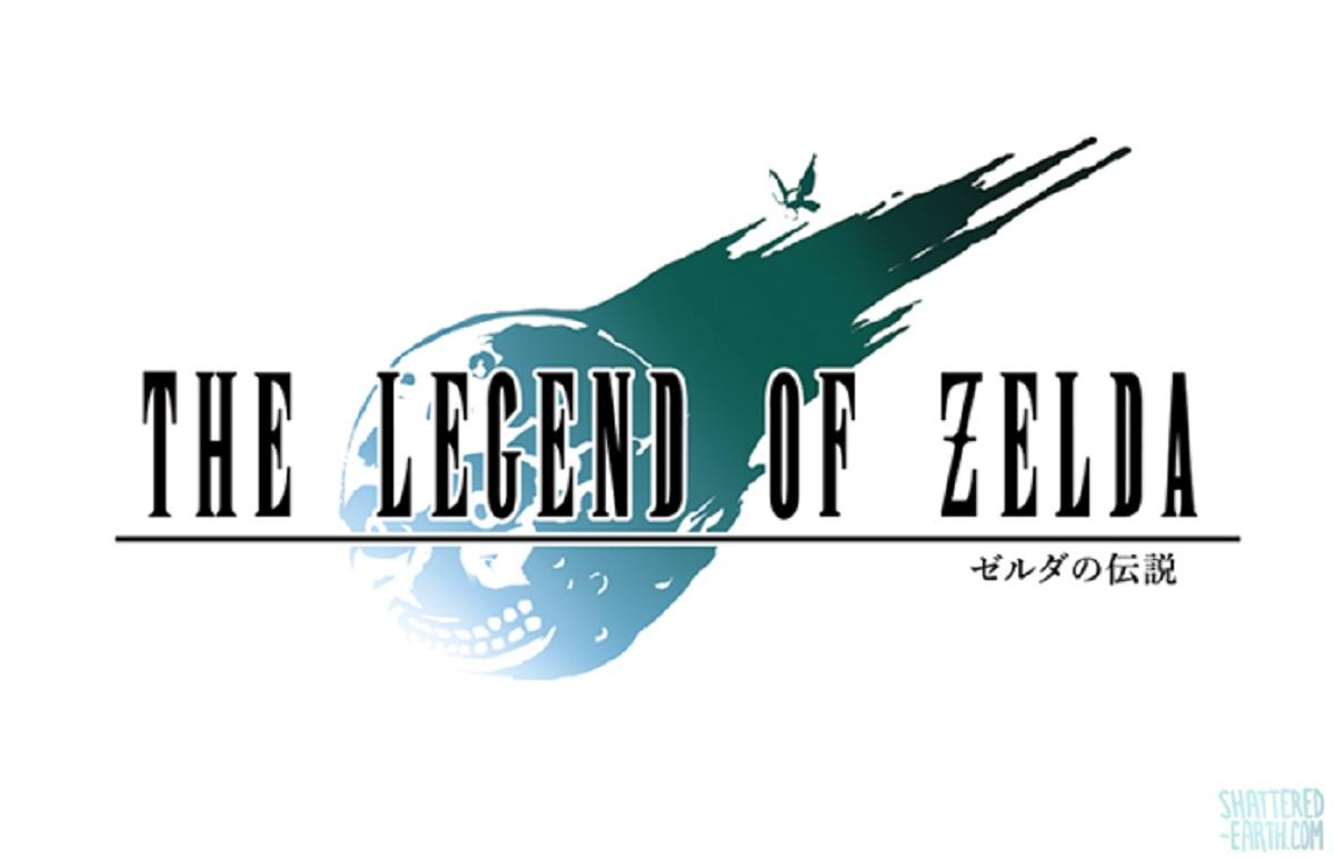 Zelda vs Final Fantasy VII Majora's Mask Devil Moon Meteor Logo