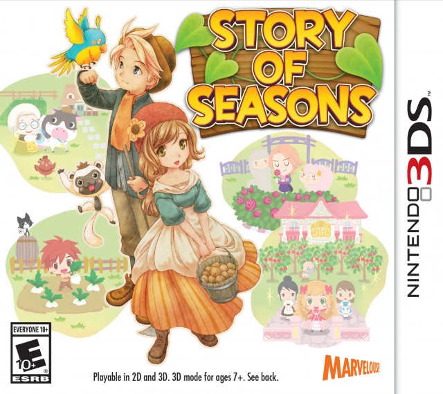 3DS Story of Seasons Box Artwork USA 2015 March 31st