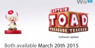 Amiibo Captain Toad Treasure Tracker Update Patch and Figure March 20 2015 Release Date