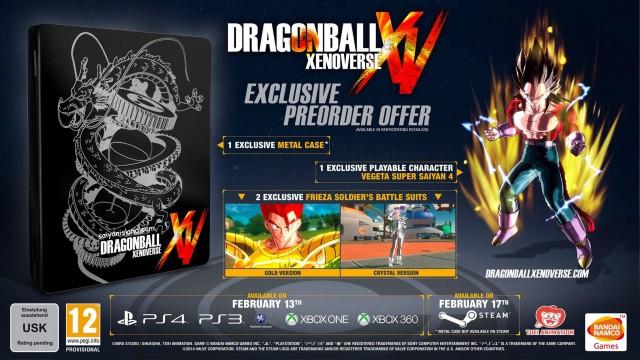 Dragon Ball Xenoverse Collector's Edition Metalcase Pre Order Bonus
