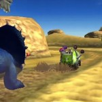Fossil Fighters 3: Frontier Gameplay Screenshot Car Exploration Dinosaurs 3DS