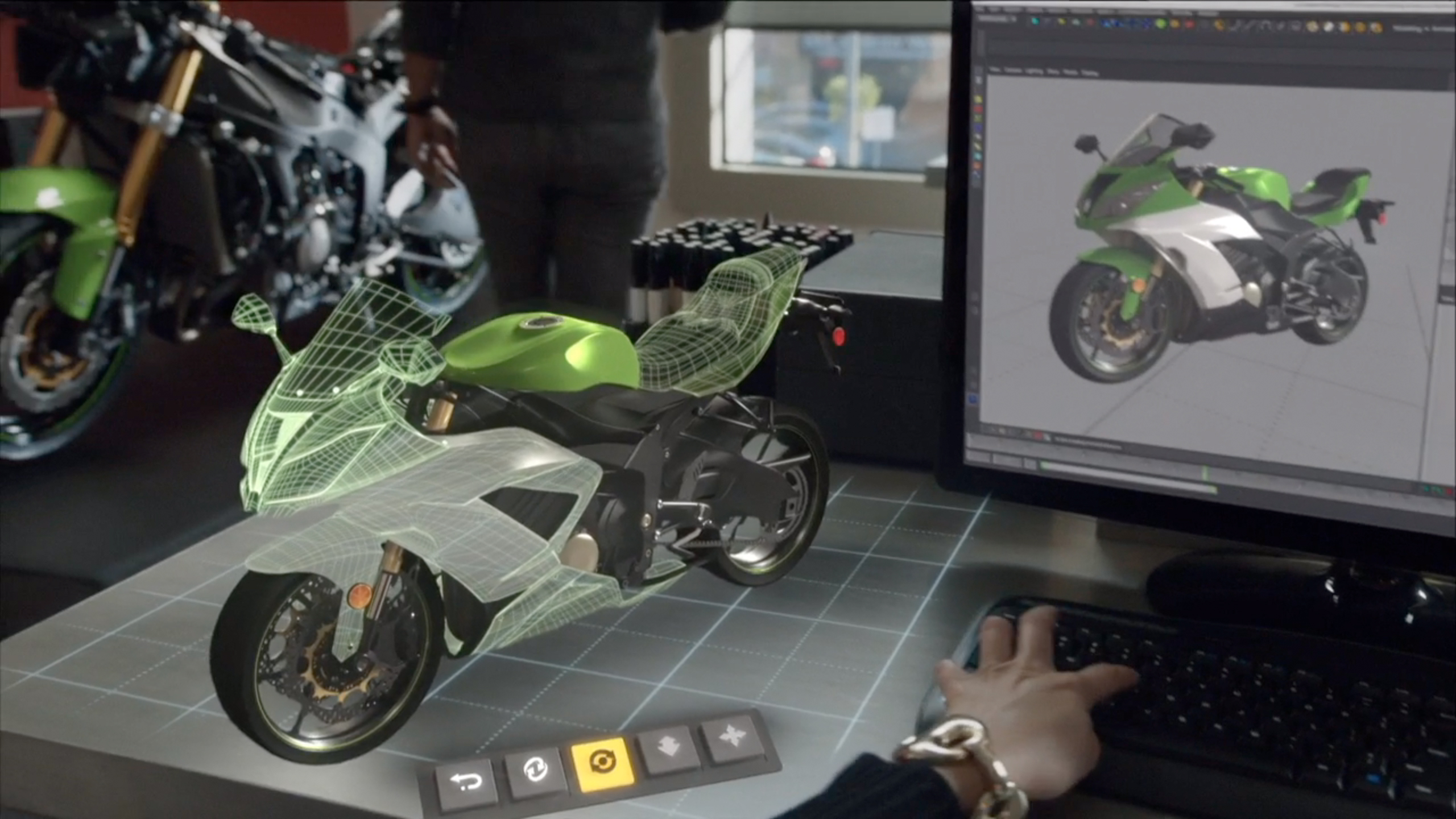 Hololens Motorcycle Augmented Reality Holographic Images Microsoft