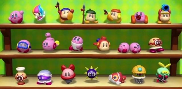 Kirby and the Rainbow Curse Figurines Collection Screenshot WiiU