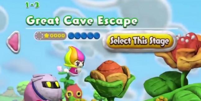 Kirby and the Rainbow Curse Meta Knight Amiibo Power Gameplay Screenshot Wii U