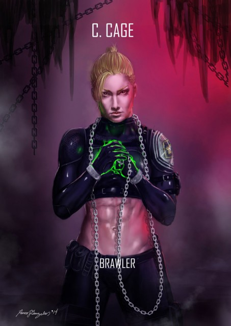 Mortal Kombat X Wallpaper Cassie Cage Brawler Variation Fanart by Grapiqkad