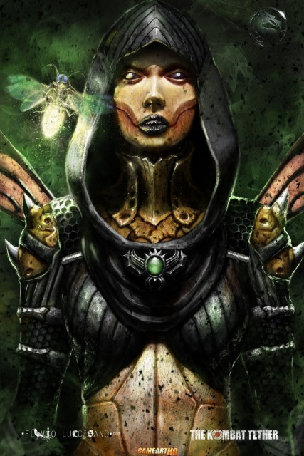 Mortal Kombat X Wallpaper Dvorah Dark Queen Variation Fanart by Flavio Luccisano