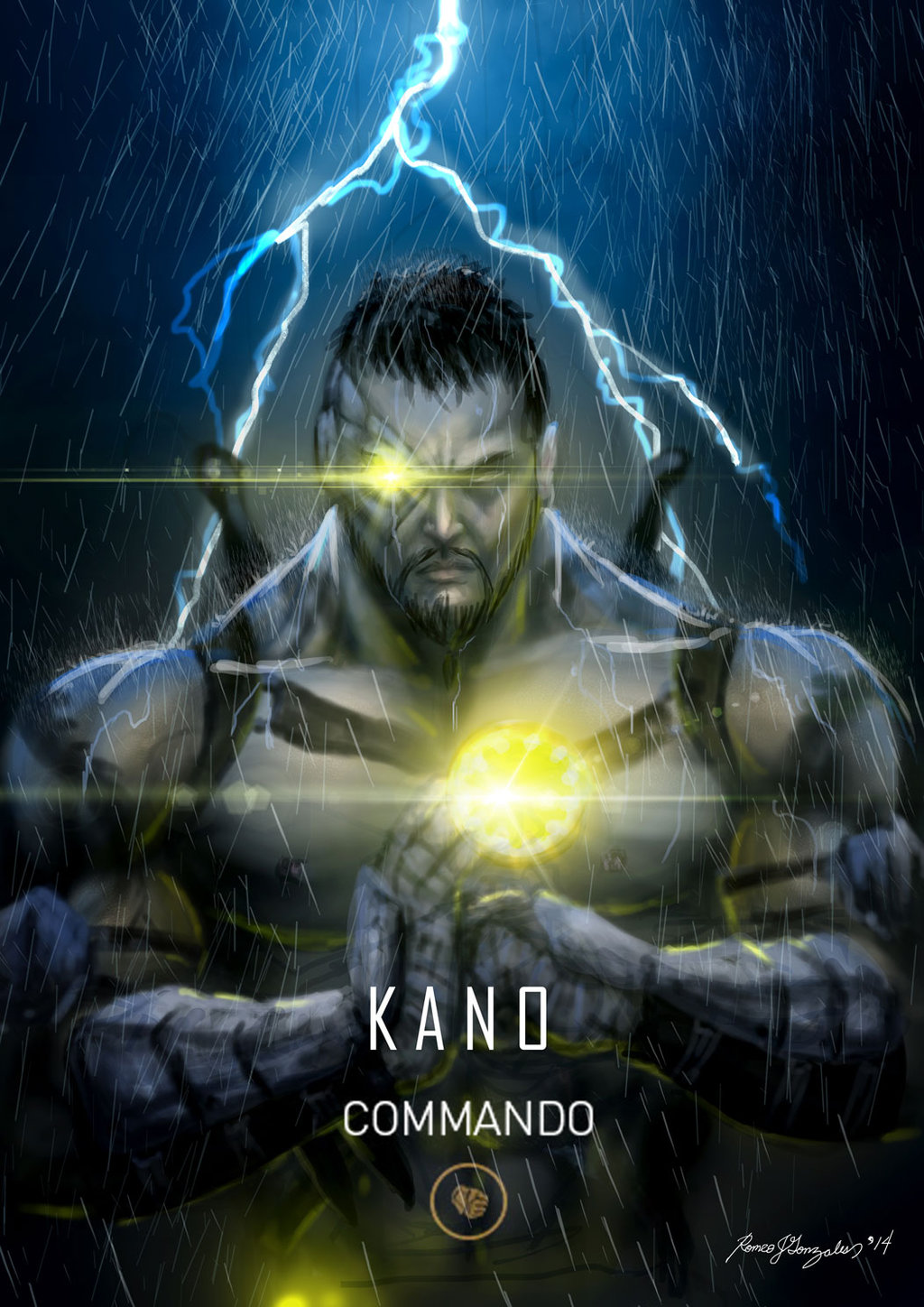 Image result for Kano Mortal Kombat wallpaper