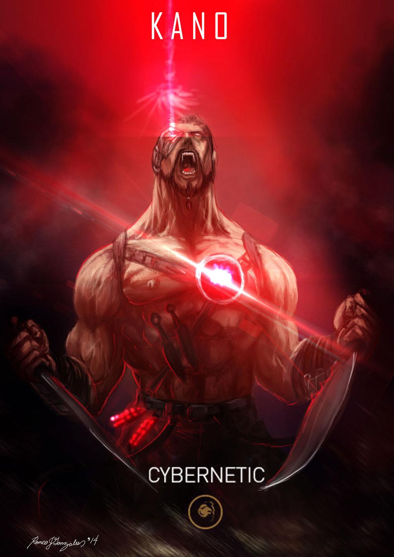 Mortal Kombat X Wallpaper Kano Cybernetic Variation Fanart by Grapiqkad