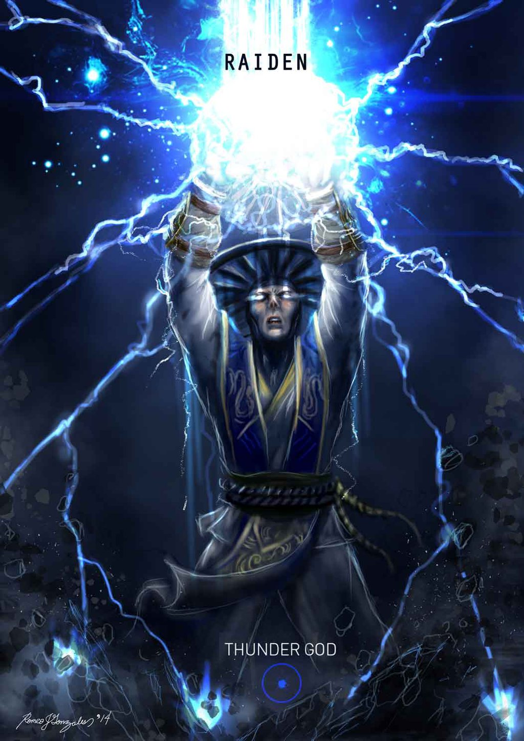mortal kombat x wallpaper raiden thunder god variation fanart