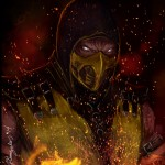 Mortal Kombat X Wallpaper Scorpion Hellfire Fanart by Grapiqkad