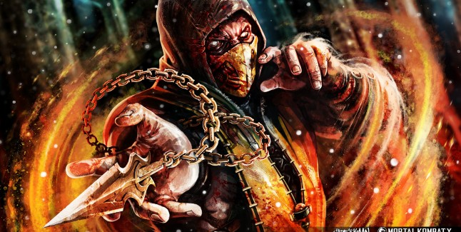 Mortal Kombat X Wallpaper Scorpion Fanart SadeceKAAN from Turkey