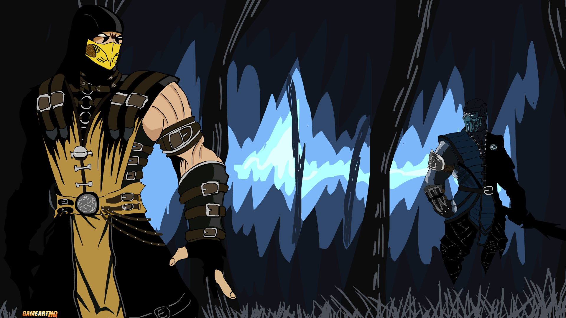 Mortal Kombat X Wallpaper Scropion Vs Subzero Fanart By Tekkenrocker