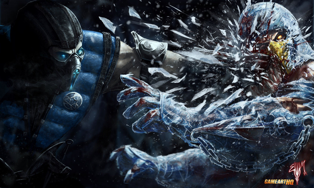 Mortal Kombat X Wallpaper Subzero Frozen Face Breaker Fanart By