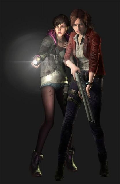Resident Evil Revelations 2 Claire Moira Burton Shadows Concept Artwork