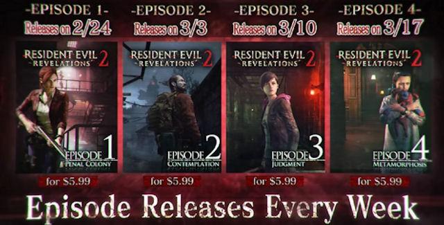 Resident evil revelations 2 release date in Melbourne