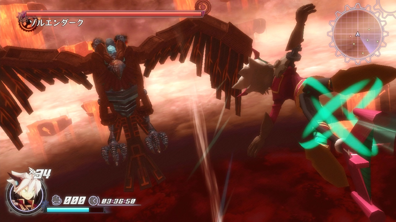 Rodea: Sky Soldier Gameplay Screenshot Bird Boss WiiU 3DS