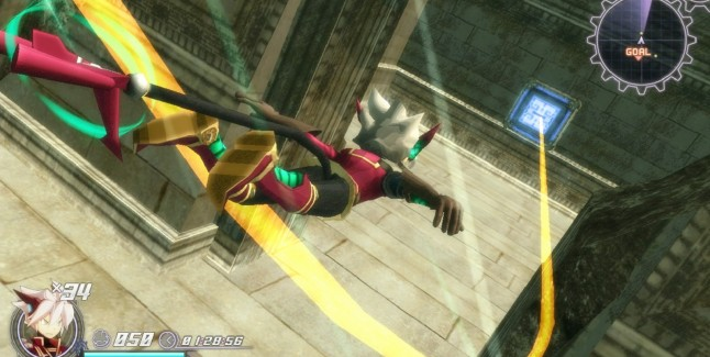 Rodea: Sky Soldier Gameplay Screenshot Flying or Falling WiiU 3DS