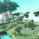 Rodea: Sky Soldier Gameplay Screenshot Grasslands and Floating Platforms WiiU 3DS