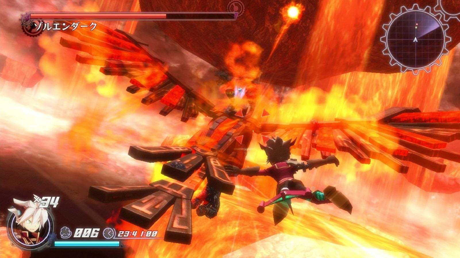 Rodea: Sky Soldier Gameplay Screenshot Rise of the Phoenix WiiU 3DS
