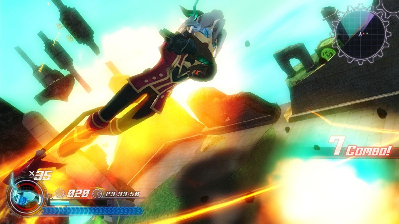 Rodea: Sky Soldier Gameplay Screenshot Stylish WiiU 3DS